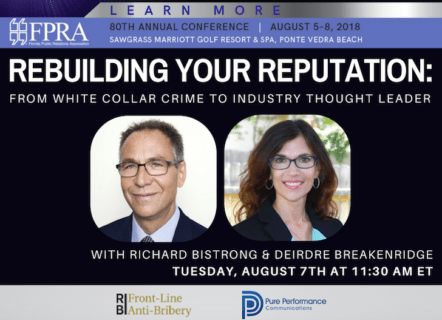 Richard Bistrong and Deirdre Breakenridge, FPRA Annual Conference
