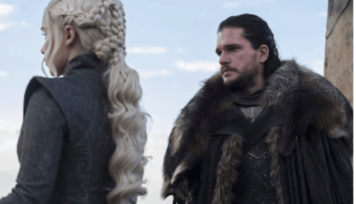 Emilia Clarke and Kit Harrington in Game of Thrones Season 7
